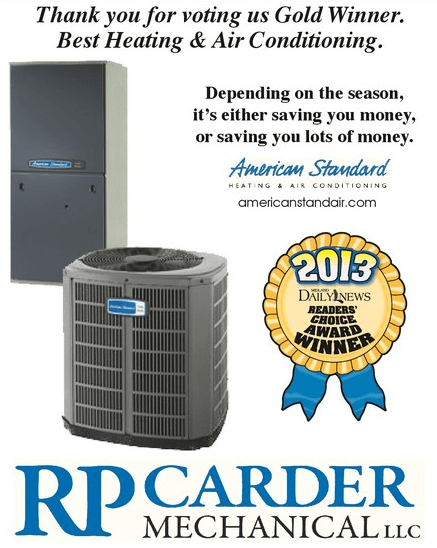 RP Carder Mechanical Winner of Reader's Choice Awards