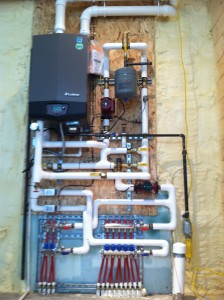 Lochinvar Boiler for Radiant Floor Heat in Barn