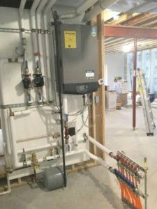 Low temp radiant, domestic water heater