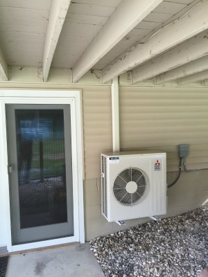 Mitsubishi M-Series Heatpump & cooling system for a residence