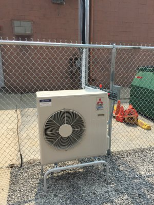 Mitsubishi Cooling system installed at a radio tower site serving the Bay, Midland and Gladwin County Police, sherrif and emergency services